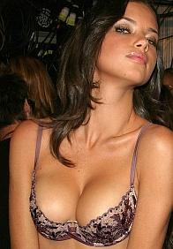 Adriana Lima See Through Dress