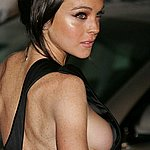 lohan nipples