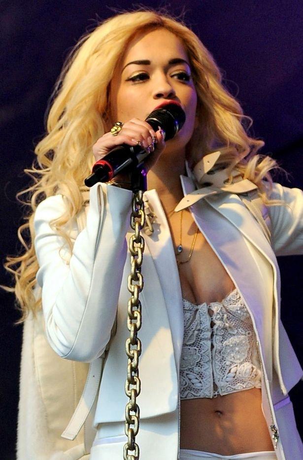 Rita Ora Boobslip
