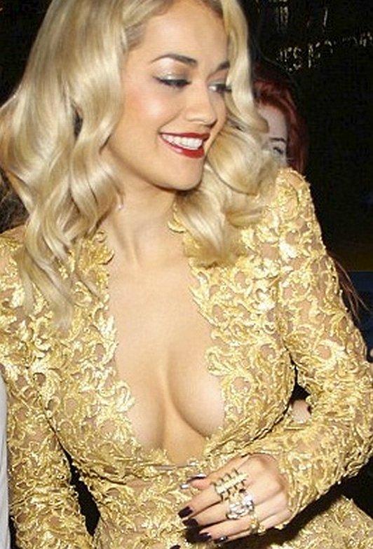 Rita Ora accidental boobs